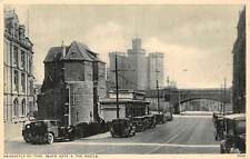 Newcastle-on-Tyne, Black Gate, Castle, Auto Voiture Cars, Railroad