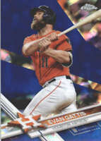 EVAN GATTIS 2017 TOPPS CHROME SAPPHIRE EDITION #160 ONLY 250 MADE