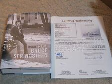 Bruce Springsteen Autographed Born To Run Book JSA Certified