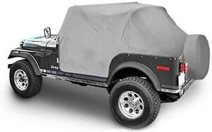 1976-1986 Jeep CJ7 Insulated Trail Cover with Door Flap Covers in Gray S/B1059