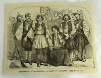small 1882 magazine engraving ~ GROUP OF BRIGANDS IN MACEDONIA