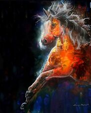 WILDFIRE 8x10 FIRE HORSE  print by Artist Sherry Shipley