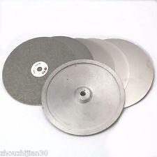 "5Pcs 8"" inch Diamond Flat Lap Disk Wheel Grit 60 - 3000 With Aluminum Master Lap"