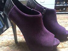 Boutique 9 Suede Platform Purple Booties Sz 6.5