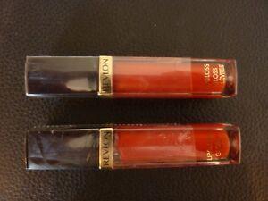 Revlon Super Lustrous Lipgloss - FIRECRACKER #160 - TWO Brand New / Sealed Tubes