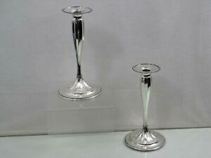 GORGEOUS TIFFANY & CO STERLING SILVER PAIR of CANDLESTICKS AMERICAN 1892 - 1902
