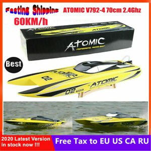Volantex V792-4 70cm 2.4G Brushless RTR 60km/h RC Boat Racing Speed Boat❤GP