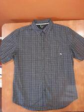 VURT Mens Size XL Black/Gray/White Short Sleeve Button-Front Shirt