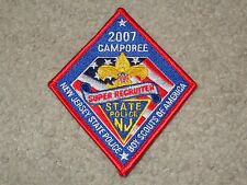 Boy Scout BSA 2007 New Jersey State Police Camporee Flag Red Patch