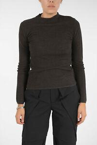 DROME women Knitwear Wool Jumper Sweater Crewneck Slim Fit Brown S (Standard ...