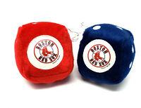 Boston Red Sox Fuzzy Dice Plush Danglers MLB Baseball