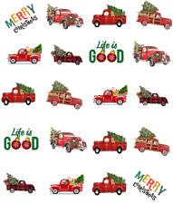Christmas Red Trucks Waterslide /Water Transfer Nail Decals/Nail art