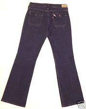 Levi's 545 Low rise Boot Cut Stretch denim dark blue jeans pants size 8