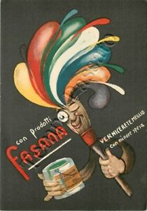 Cartolina pubblicità vernici Fasana (Verbania)