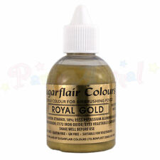 Sugarflair Airbrush Colour - Royal Gold Glitter 60ml Food Colouring Cake Bling