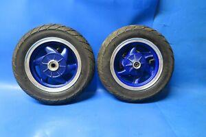 Keeway Hurricane 50 Pair of wheels blue Front wheel complete Rear wheel complete