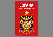 Team SPAIN WORLD CUP CHAMPIONS 2010 Commemorative Soccer WALL POSTER