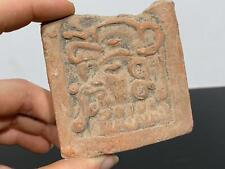 Pre-Columbian Era ? Salvaged Artifact Fragment Pottery Mud Plaque Figure