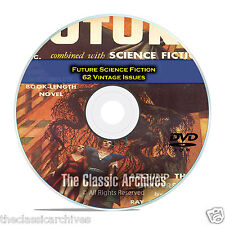 Future Science Fiction, Classic SciFi, 62 Vintage Pulp Magazines on DVD CD C38