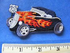 route 66 patch  (street rod with flames)