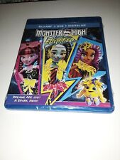 MONSTER HIGH: Electrified!(Blu-ray/DVD)*Like New*Still In Shrinkwrap*No Digital*