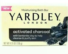 2 Yardley London Activated Charcoal W/ Clay Moisturizing Bar Soap FREE SHIPPING