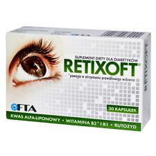 RETIXOFT dla diabetyków 30 kaps. WZROK zdrowe OCZY widzenie healthy EYES sight
