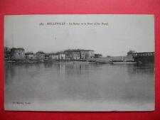 BELLEVILLE  :  Le Port et la Saône.