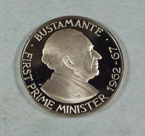 1973 JAMAICA 1 DOLLAR COIN  - PROOF - ALEXANDER BUSTAMANTE