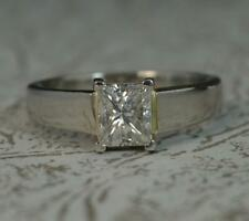 Stunning 0.82ct Diamond and Platinum Solitaire Engagement Ring