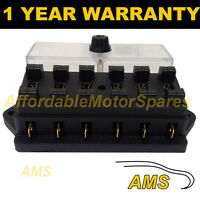 NEW 6 WAY UNIVERSAL STANDARD 12V 12 VOLT ATC BLADE FUSE BOX / COVER TRACTOR