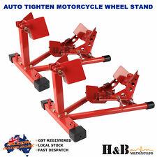 2 X HD Motorcycle Motor Motorbike Stand Front Wheel Chock Trailer