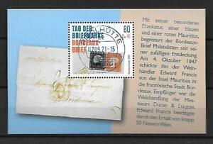 47088 Bund 2.September 2021 Block 88 Tag der Briefmarke VOLLSTEMPEL Riedlhütte