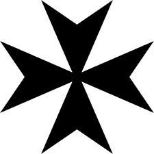 Malteserkreuz Maltese Cross 33 Aufkleber