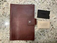 Shinola Detroit Dark Blue Leather Journal iPad Mini Cover. USA Made
