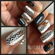 BORN PRETTY BP-W26 Tribal Aztec Nail Art Water Decals Transfer Stickers Wraps