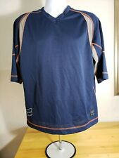 FOX RACING CYCLING BICYCLE JERSEY MEN'S LARGE BLUE SHORT SLEEVE
