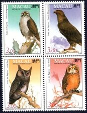Macau 1993 , Owl & Birds of Prey , Stamp Blk MNH