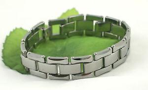 Heavyweight Tungsten Carbide 3 Row Brick Link 7.5'', 8'', 8.5'' Bracelet