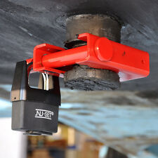 Heavy Duty King Pin Lock Coupler Trailer Locks w/ Shrouded Padlock for Semi, RV
