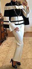NWT Chico's Black White Cape Jacket Size S $165