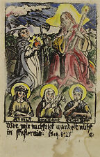 Kolorierter Holzschnitt um 1600: Armut Keuschheit Gehorsam...
