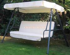 Cuscino esterno DONDOLO con tessuto tettuccio mod. Base Small Ecrù 170cm 4 posti