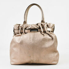 "Lanvin $2175 Metallic Gold Grained Lambskin ""Kentucky"" Satchel Bag"