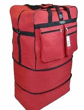 "40"" RED Large Rolling Wheeled Duffel Bag Spinner Suitcase Duffle Bag Luggage NEW"