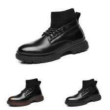 Retro Mens High Top Work Ankle Boots Shoes Shiny Business Work Office Non-slip L