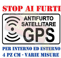 ADESIVO STICKERS DECAL  ALLARME SATELLITARE GPS ANTIFURTO MOTO AUTO SCOOTER