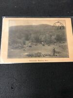Postcard Fairbrook Manitou Manitoba  Farmer With Cattle's Great Scene 1915 C01