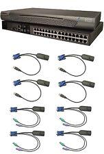 Raritan KX232 32 Port KVM IP Switch + 4 DCIM-USB & 4 DCIM-PS2 Modules Cable