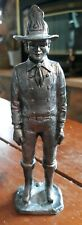 Excellent Handcrafted Pewter Fireman 6-3/8 Inch Figurine Made In USA